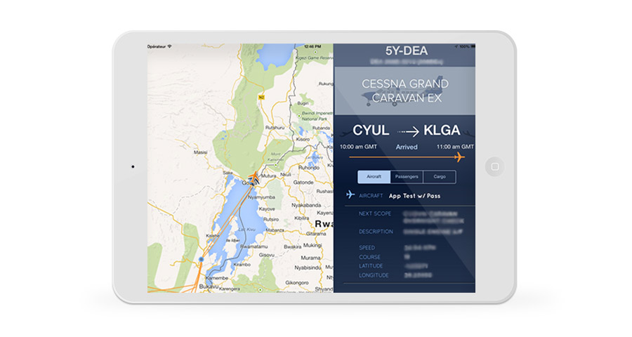DAC iPad Flight Tracker